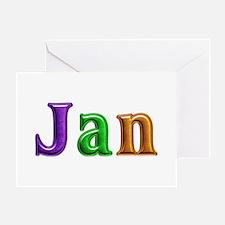 Jan Shiny Colors Greeting Card