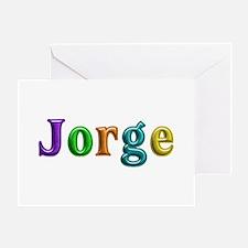 Jorge Shiny Colors Greeting Card