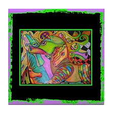 Horse Art Tile Coaster