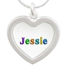 Jessie Shiny Colors Silver Heart Necklace
