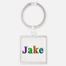 Jake Shiny Colors Square Keychain