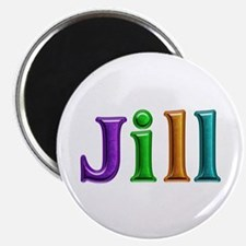 Jill Shiny Colors Round Magnet