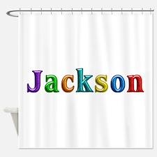 Jackson Shiny Colors Shower Curtain