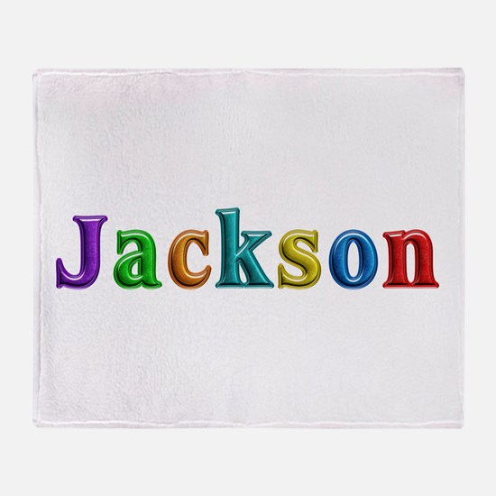 Jackson Shiny Colors Throw Blanket