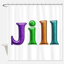 Jill Shiny Colors Shower Curtain