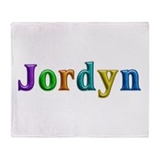Jordyn Shiny Colors Throw Blanket