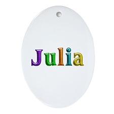 Julia Shiny Colors Oval Ornament