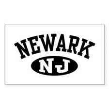 Newark New Jersey Rectangle Decal