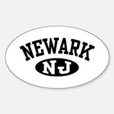 Newark New Jersey Oval Decal