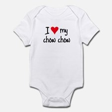 I LOVE MY Chow Chow Infant Bodysuit