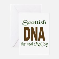 SCOTTISH DNA THE REAL MCCOY Greeting Cards (Packag