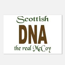 SCOTTISH DNA THE REAL MCCOY Postcards (Package of
