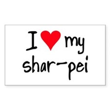 I LOVE MY Shar-Pei Decal