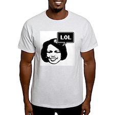 Condi RIce LOL Ash Grey T-Shirt