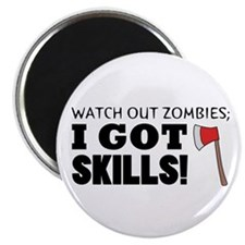 "'Zombie Hunter' 2.25"" Magnet (10 pack)"