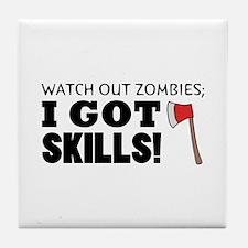 'Zombie Hunter' Tile Coaster