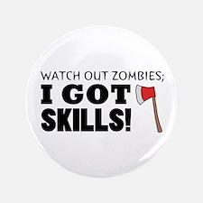 "'Zombie Hunter' 3.5"" Button"