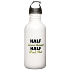 Half General Manager Half Rock Star Water Bottle