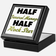 Half General Manager Half Rock Star Keepsake Box