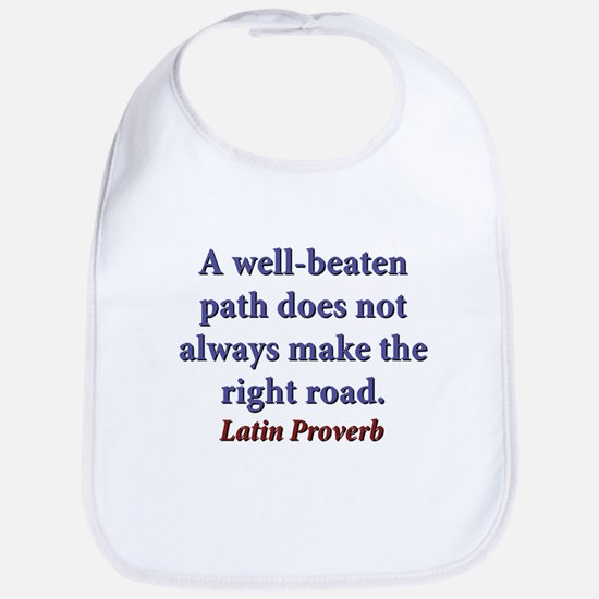 A Well-Beaten Path Cotton Baby Bib