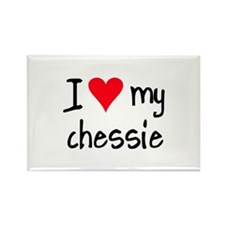 I LOVE MY Chessie Rectangle Magnet