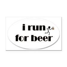 i run for beer Rectangle Car Magnet