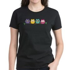 4 Colorful Owls T-Shirt