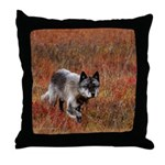 Alpha Male Wolf Throw Pillow
