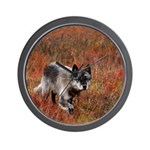 Alpha Male Wolf Wall Clock
