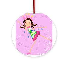 Sweet Ballerina Dancer Ornament (Round)