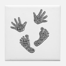 Baby Brother Coming Soon Tile Coaster