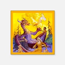 "Dragon Cookout Square Sticker 3"" x 3"""