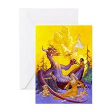 Dragon Cookout Greeting Card