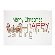Happy Hump Day Caroling 5'x7'Area Rug