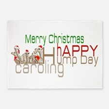Happy Hump Day Caroling 5'x7'Area Rug