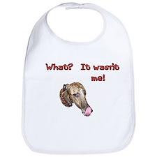 Wasn't me greyhound Bib