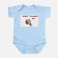 Wasn't me greyhound Infant Bodysuit