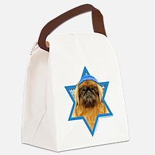 Hanukkah Star of David - Peke Canvas Lunch Bag