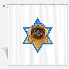 Hanukkah Star of David - Peke Shower Curtain