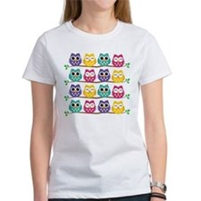 Cute Colorful Owls T-Shirt