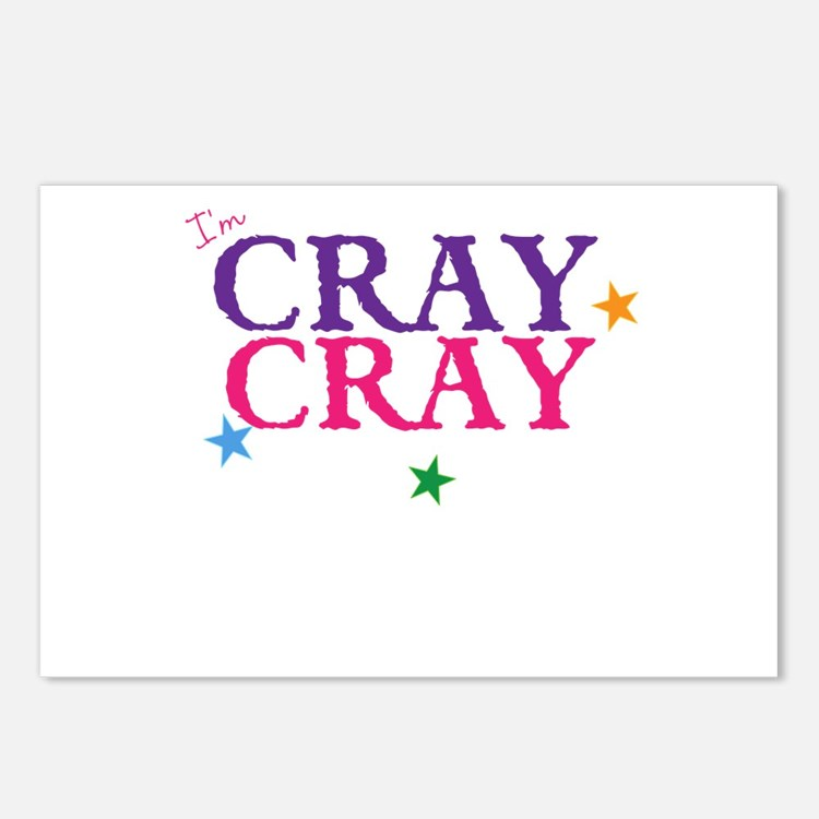 cray cray Postcards (Package of 8)