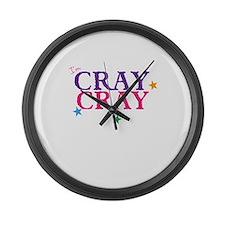 cray cray Large Wall Clock
