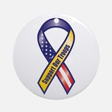 Support Our Troops - Ribbon Ornament (Round)