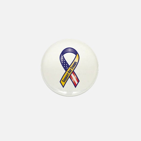 Support Our Troops - Ribbon Mini Button