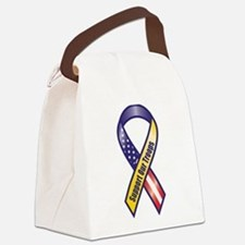 Support Our Troops - Ribbon Canvas Lunch Bag