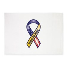 Support Our Troops - Ribbon 5'x7'Area Rug