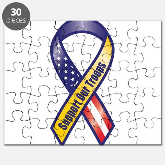 Support Our Troops - Ribbon Puzzle