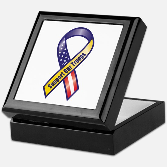 Support Our Troops - Ribbon Keepsake Box