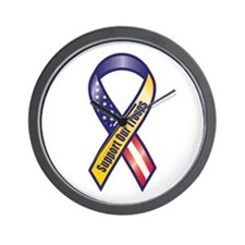 Support Our Troops - Ribbon Wall Clock