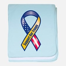 Support Our Troops - Ribbon baby blanket
